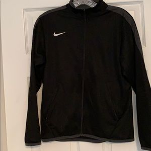 Youth NIKE black dri fit jacket